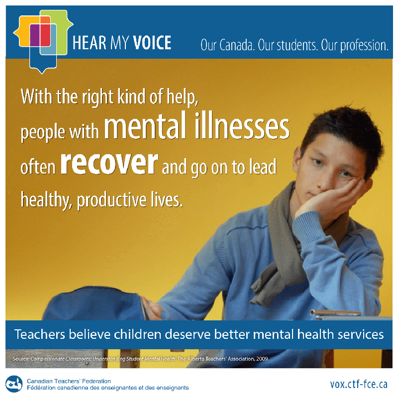 People with mental illnesses often recover and go on to lead healthy, productive lives